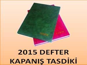 2014 DEFTER KAPANIŞ TASDİKLERİ
