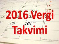 2016 Aralık Vergi Takvimi