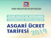 İSMMMO 2019 ÜCRET TARİFESİ